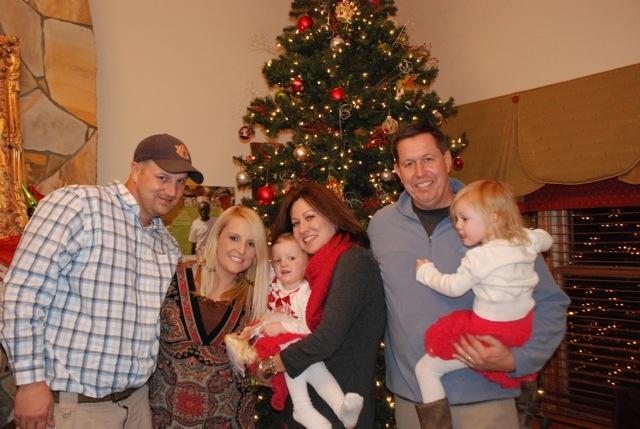 Celebrating Christmas and all God has done: James Sheppard, Jessica Sheppard, Addison Sheppard, Christy Wilson, Paul Wilson, and Jordan Sheppard.
