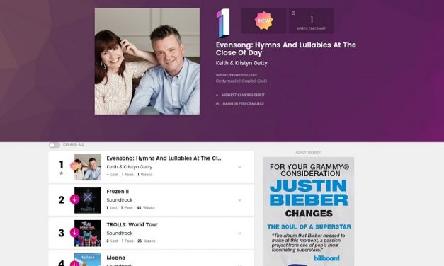 Keith and Kristyn Getty's Evensong Album Nabs #1 Spot on Billboard Chart in Debut Week